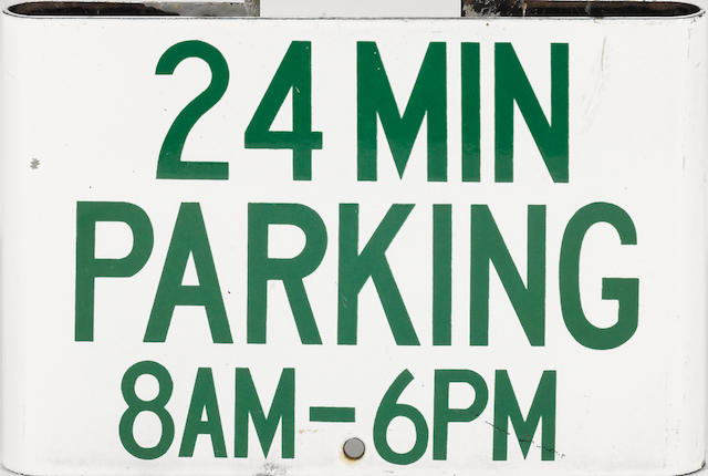 A 24 miniute parking sign,