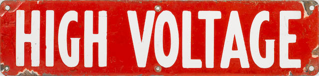 A High Voltage badge, c.20s,