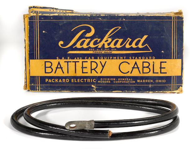 A NOS Packard battery cable, c.40s,