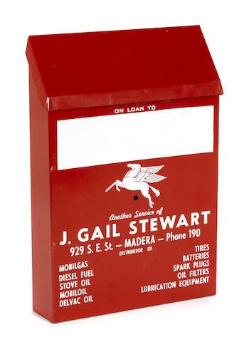 A rare Mobil delivery ticket box, c.30s,