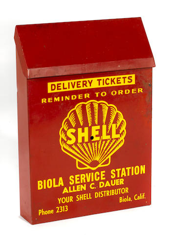 A Shell delivery ticket box, c.30s,