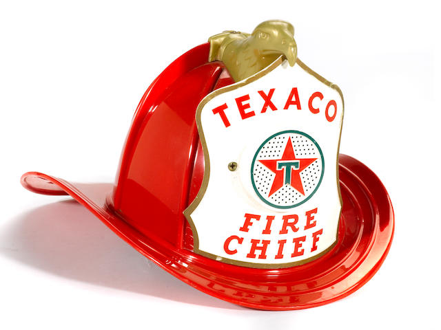 A Texaco Fire Chief kiddies helmet, c.50s,