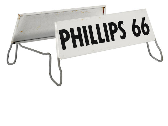 A Phillips 66 tire display,