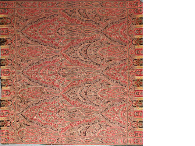 A Paisley shawl size approximately 5ft. 4in. x 5ft. 4in.