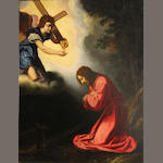 Follower of Murillo  SENDING TO BK The Agony in the Garden 25 x 18 1/2in