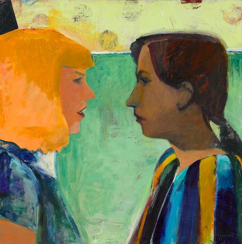 Kim Frohsin (born 1961) La Jalousie, 1997 24 x 24in (61 x 61cm)