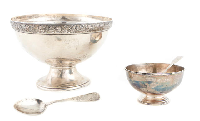 A group of American and English  sterling silver  tableware 19th - 20th century