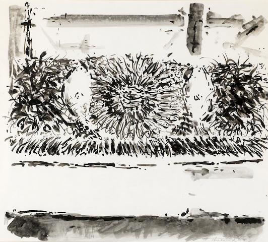 Wayne Thiebaud (born 1920) Fish Window, 1956 18 x 18 1/4in (45.7 x 46.4cm)