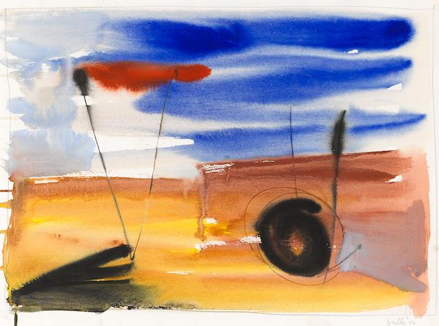 John Grillo (born 1917) Untitled, 1946 15 x 20in (38.1 x 50.8cm)