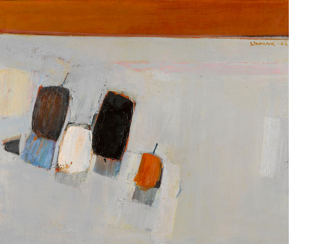 Raimonds Staprans (Latvian/American, born 1926) Apple Fantasy, 1968 28 x 34in (71.1 x 86.4cm)