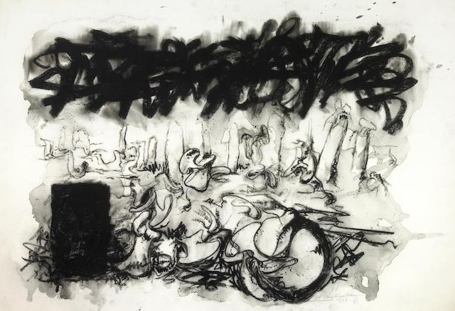 Hans Gustav Burkhardt (American, 1904-1994) Untitled, 1989 27 1/4 x 40 1/4in (69.2 x 102.2cm)
