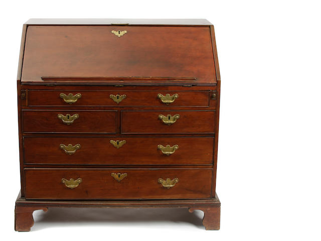 A George III style slant front desk
