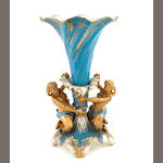 An English porcelain figural centerpiece