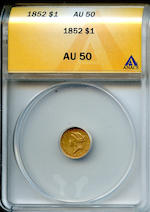 1852 G$1 AU50 ANACS