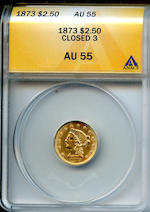 1873 Closed 3 $2.5 AU55 ANACS