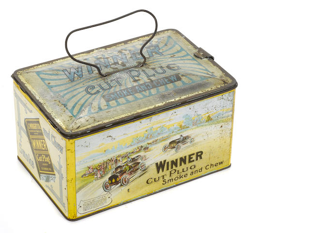 A Winner cut plug Tobacco tin, c. 1910,