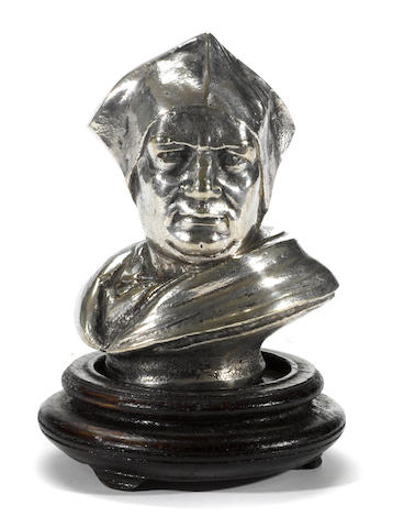 A bust of a 19th century Cardinal mascot, c.20s,