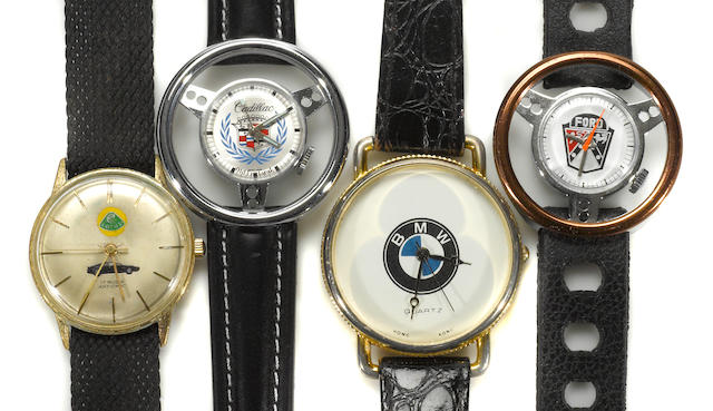 A collection of  4 mens, various  marque, automobile  watches,