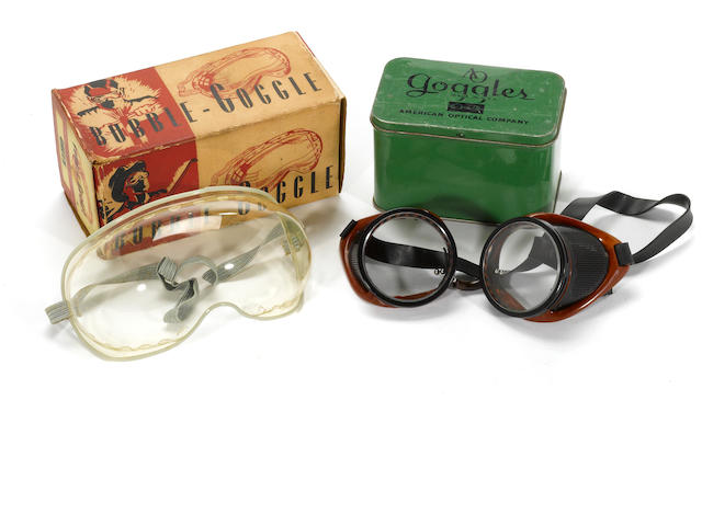 A pair of NOS American Optical goggles,