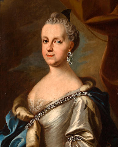 Austrian School, 18th C. Portrait of a Lady, attributed to Catherine the Great