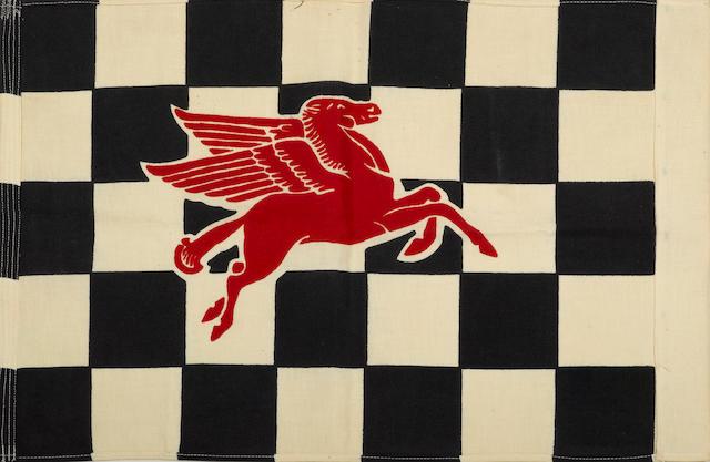 A Mobil checkard flag, c.50s,