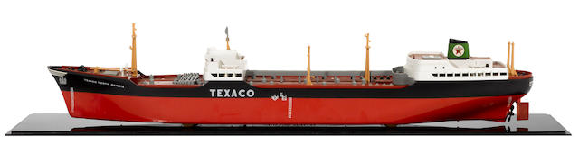 A Texaco model tanker ship, c.50s,