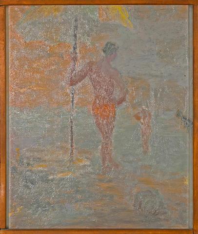 Jess (American, 1923-2004) Arising at Dawn, 1955 framed 24 3/4 x 20 3/4in (62.9 x 52.7cm)