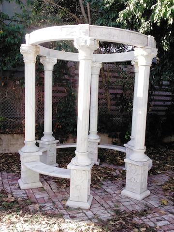 A Neoclassical style marble gazebo 20th century