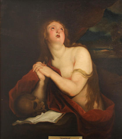 After Sir Anthony van Dyck Mary Magdalene 42 1/2 x 37 1/4in