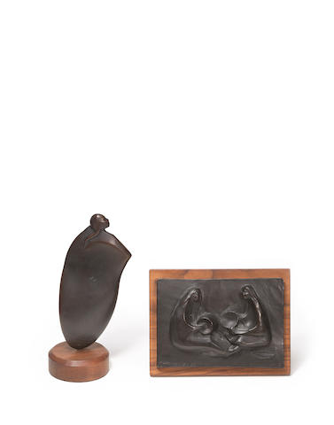 Two Alan Houser bronzes