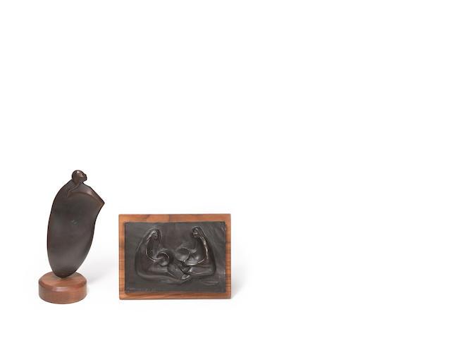 Two Alan Houser bronzes