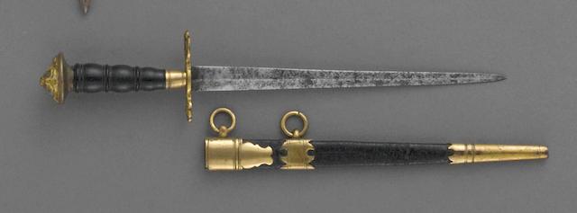 A British naval officer's dirk