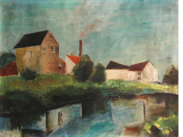 Werner Drewes, Farm river, o/c