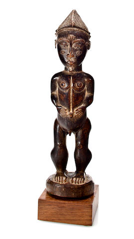 Baule Male Figure, Boile Region, Ivory Coast