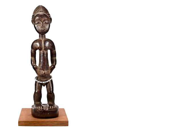 Baule Standing Male Figure, Ivory Coast