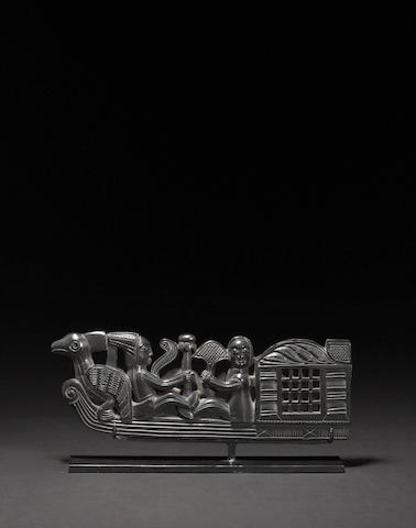 A Haida argillite figural group