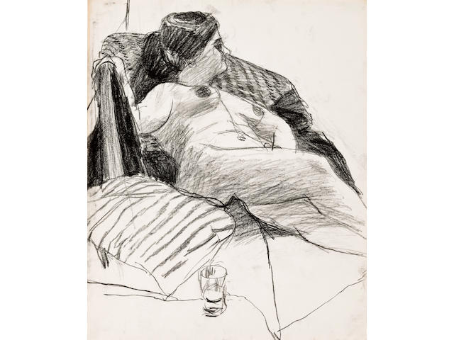 Richard Diebenkorn (1922-1993) Untitled, circa 1960 16 7/8 x 13 1/8in. (42.7 x 35.1cm)