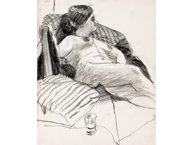 Richard Diebenkorn (1922-1993) Untitled, circa 1960 16 7/8 x 13 1/8in. (42.7 x 35.1cm)
