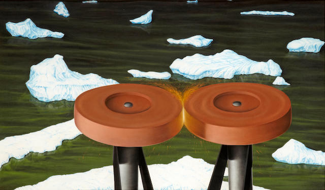 Steve Galloway (American, born 1952) Friction Wheels, 1983 34 x 58in (86.4 x 147.3cm)