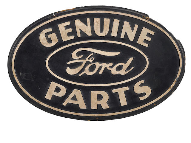A 'Genuine Ford Parts' sign, c.40s