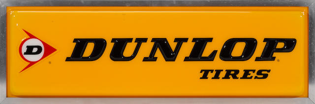 An illuminated Dunlop tires sign, c.70s,