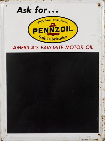 A Pennzoil Chaulkboard, c.60s,