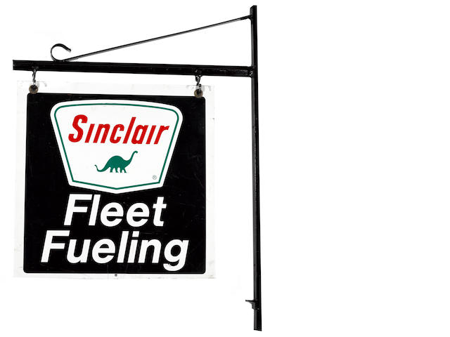 A Sinclar gasoline 'Fleet Service' sign,