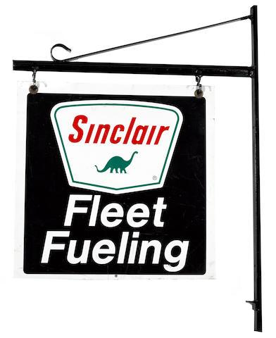A Sinclar gasoline 'Fleet Service' sign,