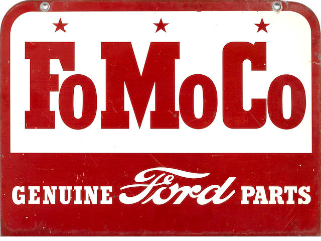 A Fo Mo Co sign, c.60s,
