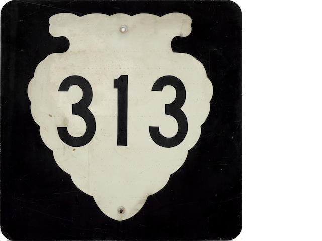 A Montana 313 highway sign,