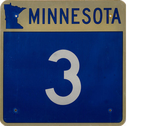 A Minnesota highway 3 sign,