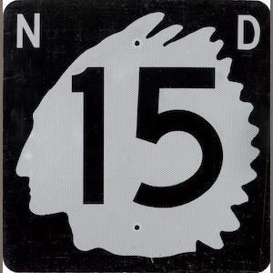 A North Dakota highway 15 sign,