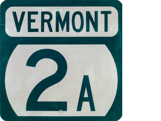 A Vermont 2A sign,