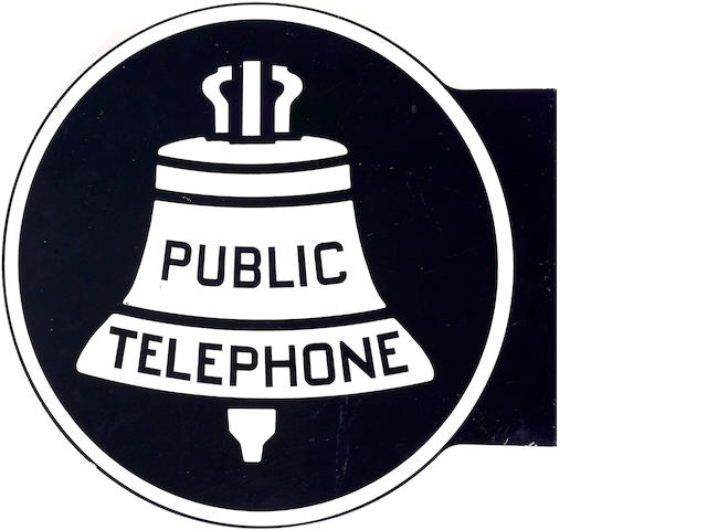 A Public Phones flange sign,